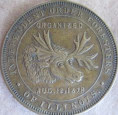 Danville, IL - Independent Order of Foresters / Moose Lodge #86 - Grand Opera House - Copper Coin 28mm VF - Aug 9, 10 & 11th 1898.