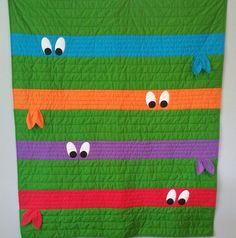 Ninja turtle quilt!                                                                                                                                                                                 More