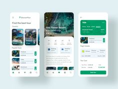 Traveling App DiscountTour by Vladimir Gubanov - Design Mobile App Design, Mobile App Ui, App Ui Design, Page Design, Design Layouts, Interface Design, User Interface, Design Design, Design Trends