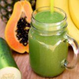 Debloating Smoothie w/pineapple, papaya, banana, cucumber, spinach & coconut water