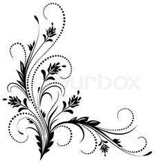 Decorative corner ornament – Deanna M. Stencil Designs, Applique Designs, Paint Designs, Embroidery Designs, Drawing Borders, Filigree Tattoo, Ornament Storage, Ornament Drawing, Wood Burning Patterns