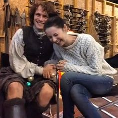 Sam Heughan and Caitriona Balfe From The Outlander Q&A Video | Outlander Online 12/19/2015