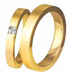 Obrączki ślubne z brylantem Swepol Amare Diamante wzór 200 /1JK-BR