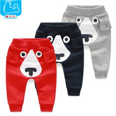 Retail Wholesale New 2016 Spring and Autumn Winter Kids Clothing Boys Girls Harem Pants Cotton Dog Trousers Baby Pants