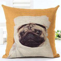 Animal cushion cover Funny Dog Print Decorative Cushion Covers for Sofa Throw Pillow Car Chair Home Decor Pillow Case