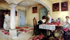 View POTPOURRI by Edwin Austin Abbey on artnet. Browse upcoming and past auction lots by Edwin Austin Abbey. National Gallery Of Art, Art Gallery, European Paintings, Old Paintings, Religious Paintings, Religious Art, Edwin Austin Abbey, Pot Pourri, Primitive Painting