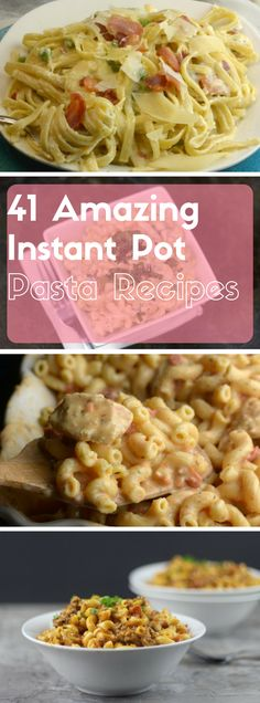 A great resource for finding Amazing Instant Pot Pasta Recipes, so make sure to pin it for later. This list includes chicken pasta recipes, several macaroni and cheese recipes, ravioli recipes and even easy pasta recipes. Pressure Cooking Recipes, Slow Cooker Recipes, Crockpot Recipes, Instant Pot Pasta Recipe, Best Instant Pot Recipe, Instant Recipes, Chicken Pasta Recipes, Easy Pasta Recipes, Amazing Food Recipes