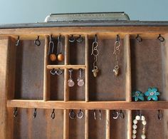 Great way to store jewelry.  Pinned with permission.