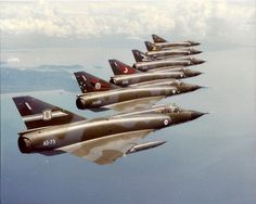 RAAF mirages in 6 different squadron colours