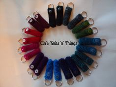 Lip Balm Holder, Chap Stick Holder, Key Chain,  Lip Balm Cozy, Chapstick Cozy, Crochet, USB Stick Cozy - pinned by pin4etsy.com