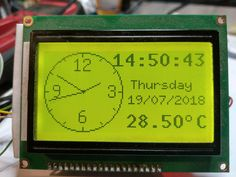 Clock with manual adjust with arduino , analog clock in. Arduino Led, Arduino Programming, Arduino Display, Radios, Fancy Clock, Simple Arduino Projects, Liquid Crystal Display, Raspberry Pi Projects, Old Phone