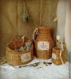 "Кухня ручной работы. Ярмарка Мастеров - ручная работа Плетеный набор для кухни ""Natural House"". Handmade."