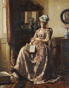 """Robert James Gordon RBA (fl.1871-1893)  """"Asleep"""""""