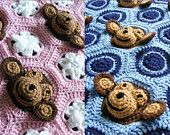 Two Crochet Baby Blanket PDF PATTERNS Download - Baby Girl AND Baby Boy Feel and Learn Monkey Blankets or Stroller Blankies, Crochet Pattern
