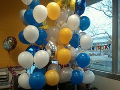 Somewhere behind these balloons is a Petplan Pet Insurance employee celebrating a birthday in our usual, fun style!
