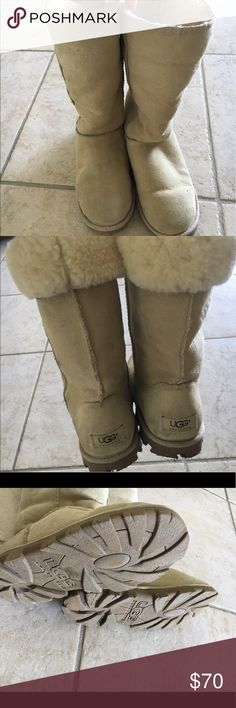 Classic Tall Ugg Boots Sz 8 Great condition. Only wore for 2 ski trips. Color is sand. Size 8 UGG Shoes Winter & Rain Boots