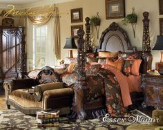 Essex Manor Deep English Tea Poster Bed by Michael Amini