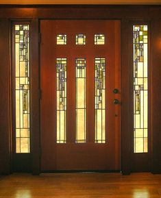 Stained Glass Light, Stained Glass Door, Stained Glass Designs, Stained Glass Panels, Leaded Glass, House Front Door, Glass Front Door, Front Doors, Glass Doors