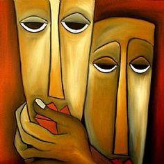 Art: Faces 224 by Artist Thomas C. Fedro