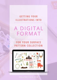Getting Your Illustrations Into a Digital Format for Surface Pattern Design | Learn My Method and Sign Up to Take a Class on Vectorizing Your Artwork!