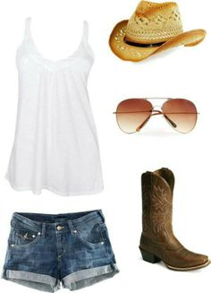 Country summer outfit(: my outfits country outfits, summer o Country Girl Outfits, Country Girl Style, Country Fashion, Country Girls, My Style, Cowgirl Outfits For Women, Country Dresses, Country Chic, Redneck Girl Outfits