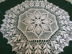 tapete mesa hilo de algodon tejido a crochet