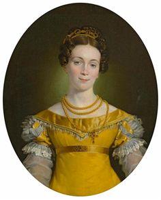 Johann Peter Krafft, Portrait of Anna Obermayer, around 1819