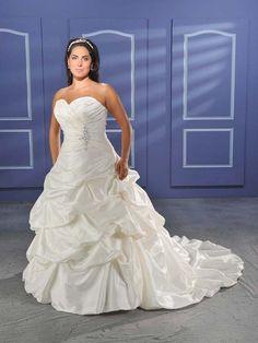 Taffeta Ball Gown Plus Size Wedding Dress