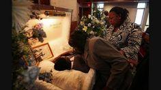 Funeral- Bernie Mac, August 16, 2008, Viewing with an open casket.
