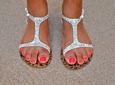 Me encantan estas sandalias, este modelo me gusta mucho en alto, chatos, más o menos en todo, Craft Wars for BuzzFeed Glitter Sandals