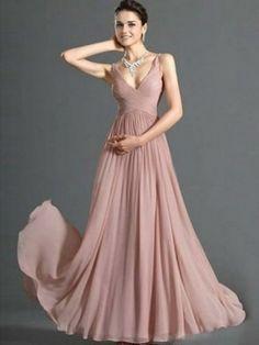 V- образным вырезом- линии рюшами Длина пола шифон вечернее платье 243,25 руб 139,00 руб