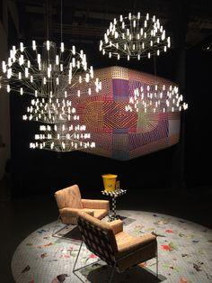 Moooi display pushing the boundaries. A furniture catwalk.