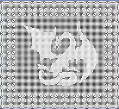 This is a delightful pattern to filet crochet. You can create an heirloom that your family members will love to receive with just a few types of