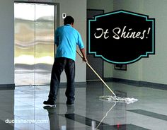 It shines!  #cleaning www.ducksnarow.com