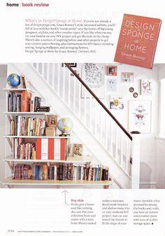 DIY understair storage Staircase Bookshelf, Book Stairs, Bookshelves, Stair Shelves, Stair Storage, Book Storage, Open Shelves, Bookshelf Ideas, Cottage Staircase