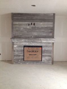 Our 100 year old barn wood fireplace. Turned out even better than we imagined!