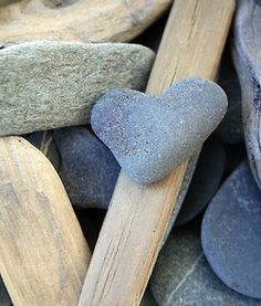 Heart shaped stone...perfect!