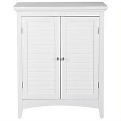 The Elegant Home Fashion Slone 2 Door Shuttered Floor Cabinet is a lovely, small cabinet—perfect for that small space. It's made with clean lines. Door Furniture, Furniture Hardware, Furniture Legs, Furniture Storage, Cabinet Shelving, Cabinet Decor, Cabinet Hardware, Small Cabinet, Tall Cabinet Storage