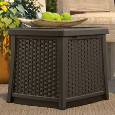 Garden Storage Box Outdoor Patio Backyard Tool Box Container Java Color:Java No patio furniture set is complete without the necessary extras, and the Suncast E Outdoor Storage Boxes, Patio Storage, Side Table With Storage, End Table Sets, Table Storage, Hose Storage, Storage Ideas, Outdoor End Tables, Outdoor Decor