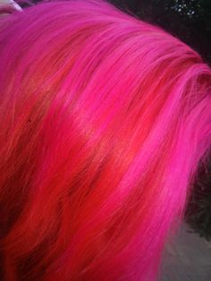 Started out as a dare...to prove pink and red goes together. Wildfire, infrared, hot hot pink and candycotton pink, all from Manic Panic