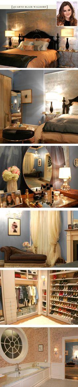 Blair Waldrof's room. Love it. Gossip girl. Blair Waldrof. UES.