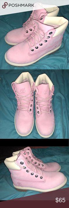 a025a83acb8 Light pink Timberland boots from Journeys I m great condition. Only worn  them two or three times. Size  6 in girls (women) but fits like a  Timberland Shoes ...