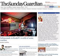 Sunday-Guardian, Artbeat homepage