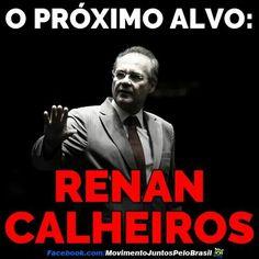 BRASIL SEM MÁSCARA  ELE quer destruir a Lava Jato. Ele quer por o Moro na cadeia. Ele deixou a Dilma impune. Ele desarmou o povo brasileiro. Ele salvou o marido de Gleisi no STF. Ele está metido na Lava Jato e na Zelotes. RENAN CALHEIROS É O MAIOR INIMIGO DO BRASIL.