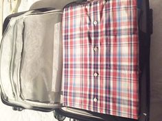 look how neat liftnfind.com luggage dividers can double as a folding board and keep shirts neat and tidy! Small Tray, Large Tray, Large Suitcase, Neat And Tidy, Dividers, Board, Shirts, Clothes, Products