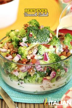 The Best Ever Broccoli Salad #summer #TSRISummer #salad