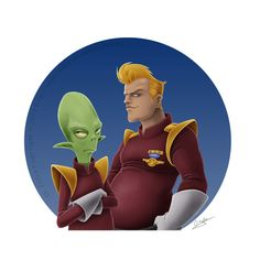 "Time to remember our heroes: ""Doop Zapp and Kif"" by imperdible (Oscar Zafra) 