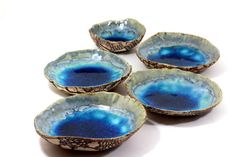 Serving Ceramic bowls set of 5 Wedding gift Hostess by orlydesign, $65.00