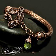 Vesuvianite Copper Viking Knit Bracelet