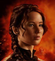 Katniss- The girl on fire by LuzTapia on deviantART